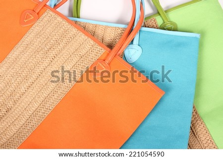 colorfull shopping bags - stock photo