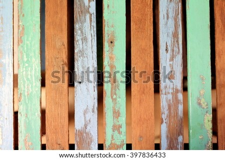 Colorfull wood table serface background