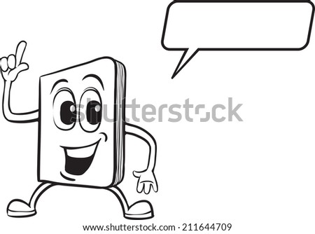 Coloring Book Cartoon Notebook Character Stock Illustration ...