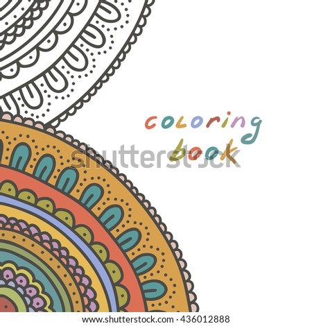 coloring book cover,  raster version - stock photo