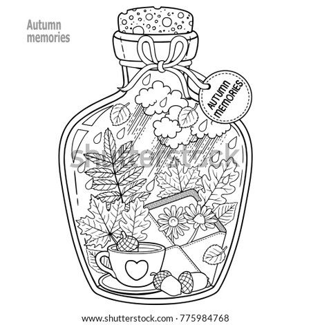Vector Coloring Book Adults Glass Vessel Stock Vector 713270776 ...