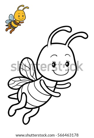 Coloring Book For Children Bee