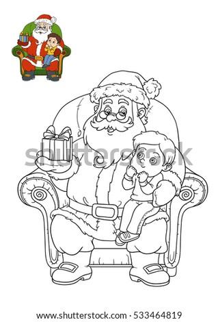 coloring book for children santa claus - Coloring Book Santa Claus
