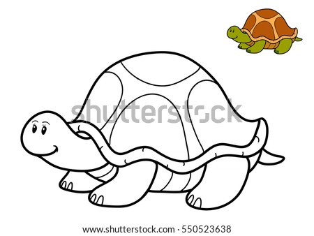 Coloring Book For Children Turtle