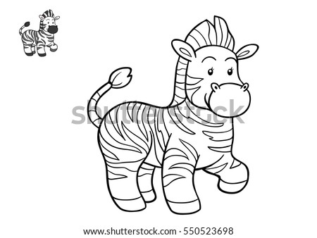 Coloring Book Christmas Winter Zebra Game Stock Vector 311036288