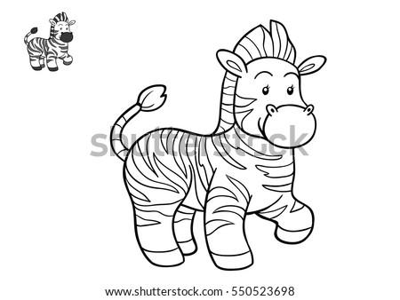 Coloring Book Christmas Winter Zebra Game Stock Vector 311036288