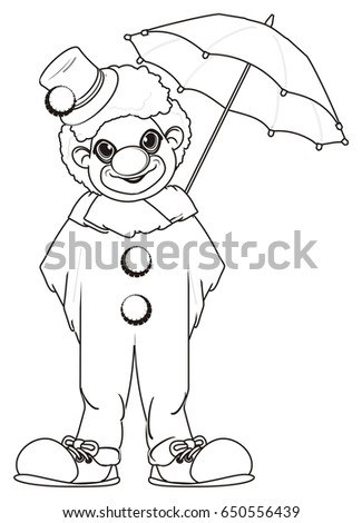 Coloring Clown Umbrella Stock Illustration 650556439 - Shutterstock