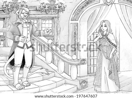 fairy tale colouring pages stock images royalty free images vectors shutterstock. Black Bedroom Furniture Sets. Home Design Ideas