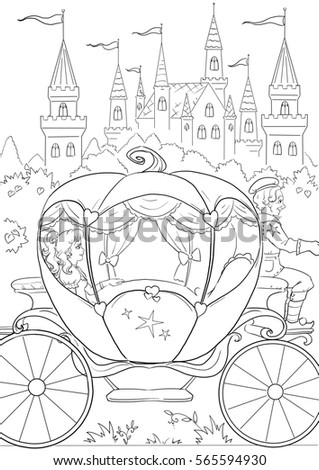 Cinderella Clip Art Black And White