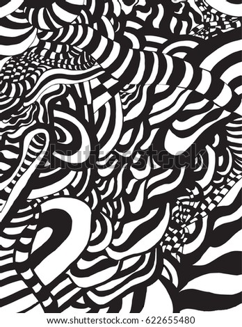 Black and white op art stock images royalty free images for Op art coloring pages
