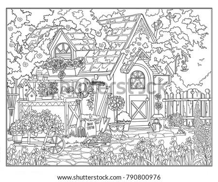 Coloring Page Secret Garden
