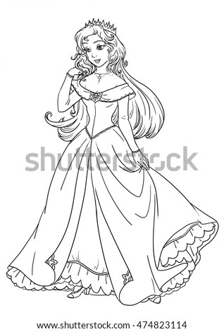 Medieval costume burgundian fashion see other stock vector for Beautiful dress coloring pages