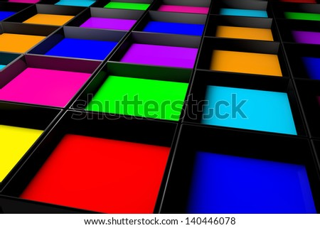 colors - stock photo