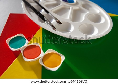 colors and palette - stock photo