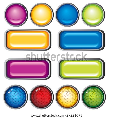 colors collection button on white background