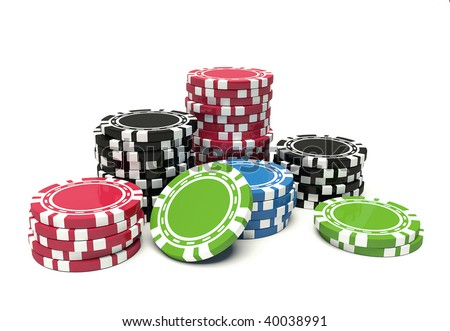 colors gambling chip