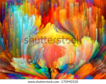 Colors In Bloom series. Abstract design made of fractal color textures on the subject of imagination, creativity and design - stock photo