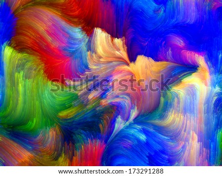 Colors In Bloom series. Background composition of  fractal color textures to complement your layouts on the subject of imagination, creativity and design - stock photo