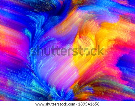Colors In Bloom series. Creative arrangement of fractal color textures as a concept metaphor on subject of imagination, creativity and design - stock photo