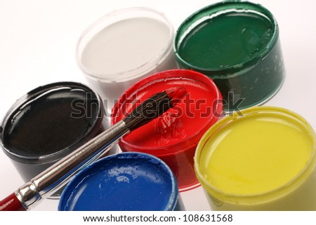 Colors in container on white background.