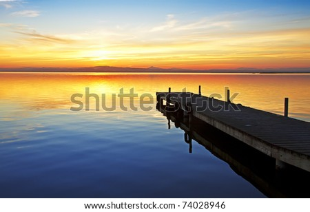 colors in the lake of love - stock photo