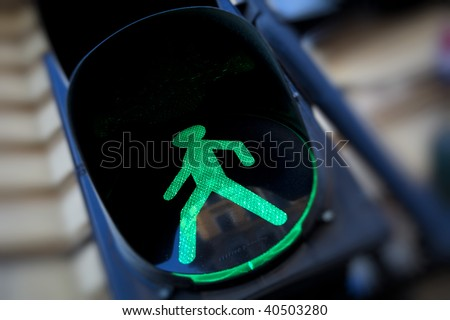 Colors of a traffic light - stock photo
