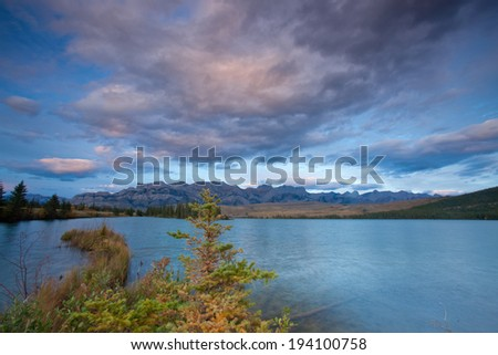Colors of Autumn in Western Canada - stock photo