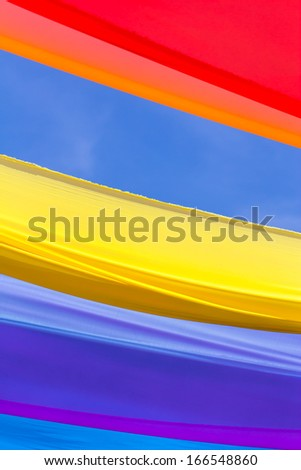 Colors of fabric - stock photo