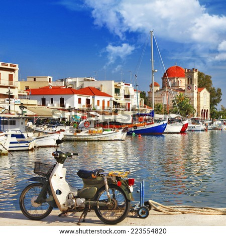 colors of Greece series-Aegina island - stock photo