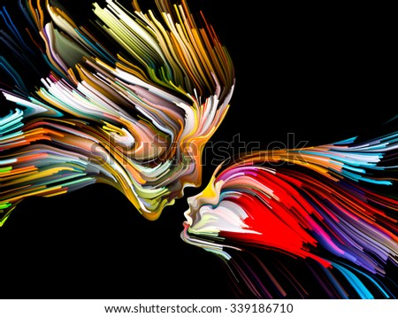 Colors of Imagination series. Arrangement of streaks of color on the subject of art, creativity, imagination and graphic design - stock photo