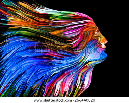 Colors of Imagination series. Creative arrangement of streaks of color as a concept metaphor on subject of art, creativity, imagination and graphic design - stock photo