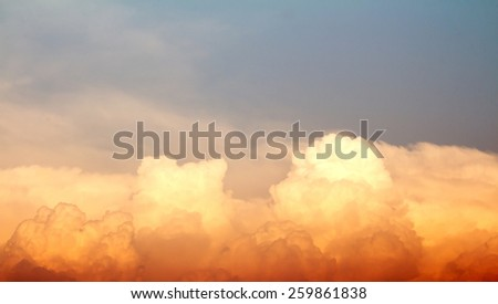 Colors of the sky at sunset. - stock photo