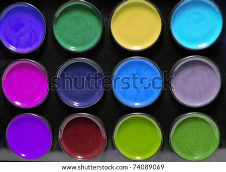 colors paint - stock photo