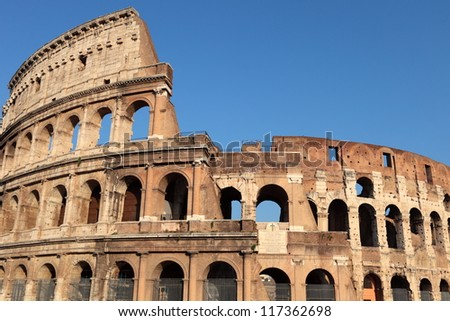 Colosseum Amphitheater in Rome, Italy. - stock photo