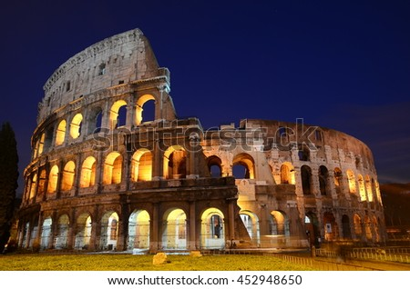 Colosseum at night. Rome. Italy
