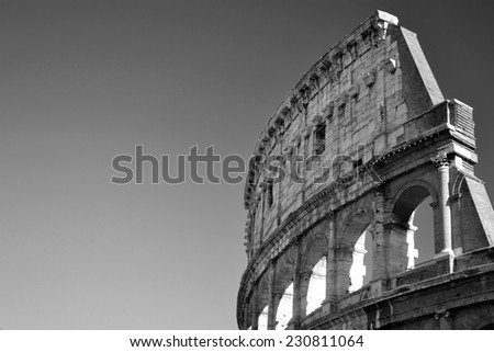 Colosseum, black and white