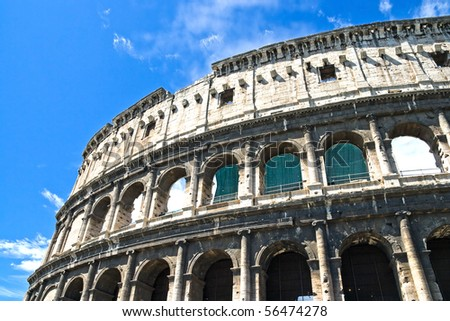 Colosseum Dome, June 2010 in Rome, Italy - stock photo
