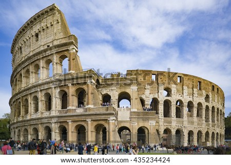 Colosseum in Rome, Italy,selective focus - stock photo