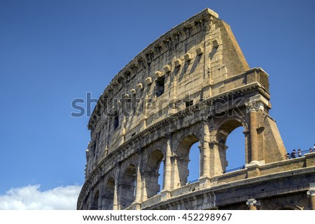 Colosseum - landmark of Rome, Italy. It is the largest amphitheater ever built