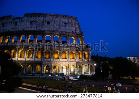 Colosseum - Most important Rome's monument.