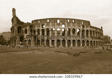 Colosseum or Roman Coliseum,  Rome, Italy