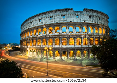Colosseum, Rome - Italy - stock photo