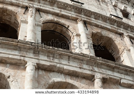 Colosseum, Rome, Italy (close up) - stock photo