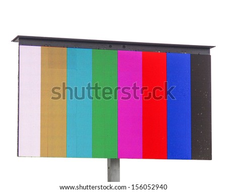 Colour bars television test pattern on a screen - stock photo