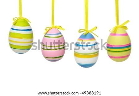 Colour Easter eggs. Isolated on a white background