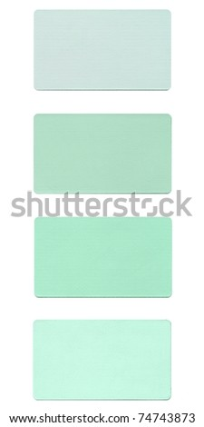 Colour fabric paint samples isolated over white