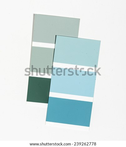 Colour palette in the developed kind  - stock photo
