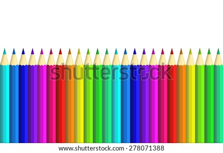 colour pencil isolated over white background