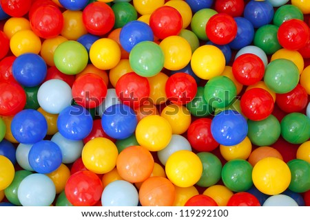 colour plastic balls background - stock photo