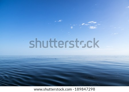 Colour sunset in Pacific ocean. Nobody. No anyone. - stock photo